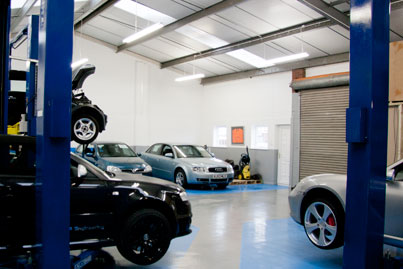 garage with all types of car